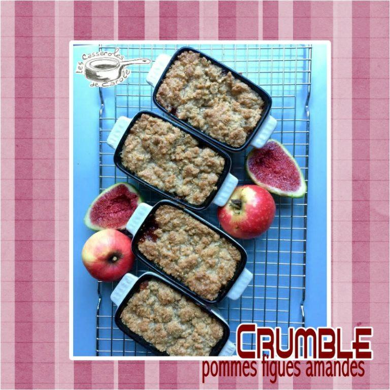 Crumble pommes figues amandes