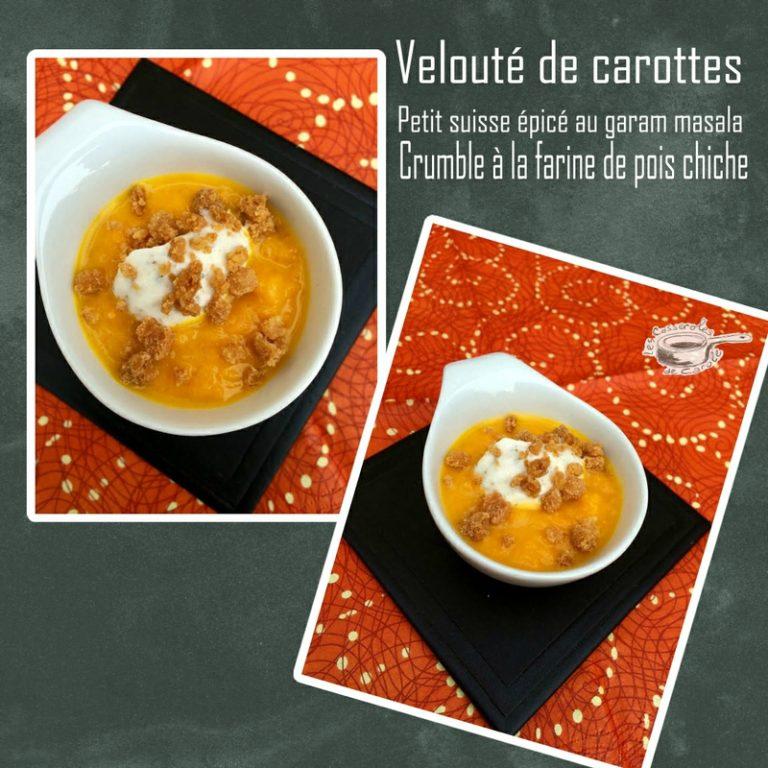 veloute de carrottes crumble