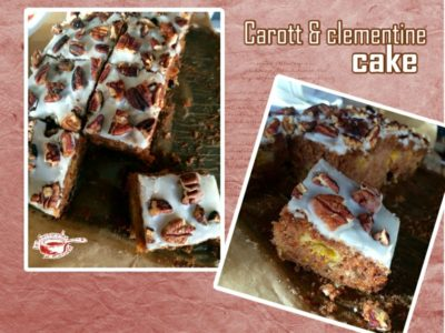 Carott and clementine cake