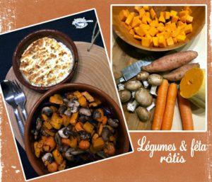 Légumes et fêta rotis
