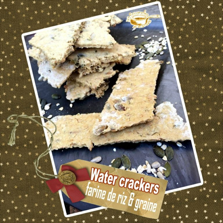 Water crackers sans gluten
