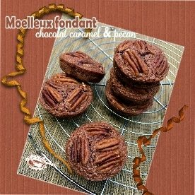Moelleux chocolat caramel pecan