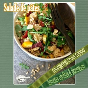 Salade de pâtes courgette coppa