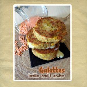 galette lentilles et carotte