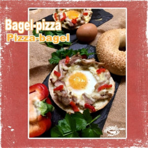 Bagel pizza