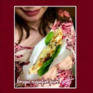 Croque roquefort poire