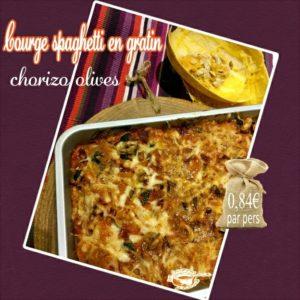Courge spaghetti en gratin