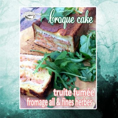 Croque cake truite fumée