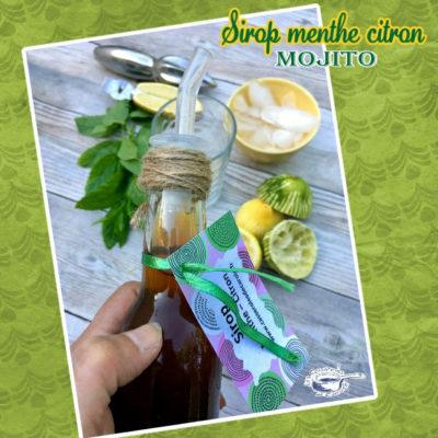 Sirop menthe citron
