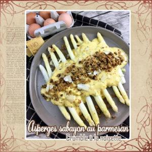 Asperges sabayon au parmesan