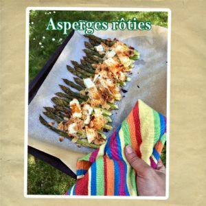 asperges rôties féta amandes