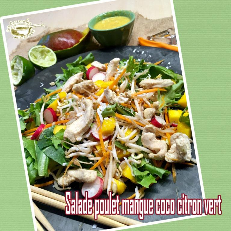 Salade poulet mangue coco