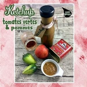 ketchup tomates vertes et pommes