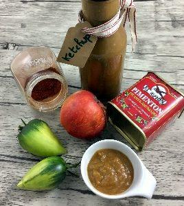 ketchup de tomates vertes et pommes