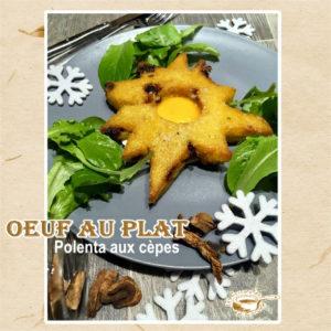 oeuf au plat polenta aux cèpes