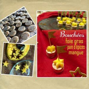 bouchée foie gras épices mangue