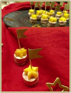 bouchée foie gras epices mangue