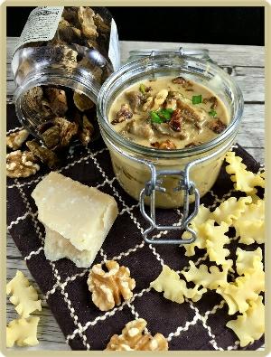 sauce cèpes parmesan et noix
