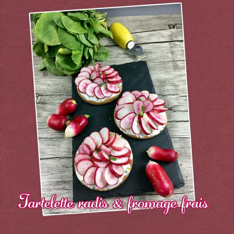 Tartelette radis fromage frais sans gluten