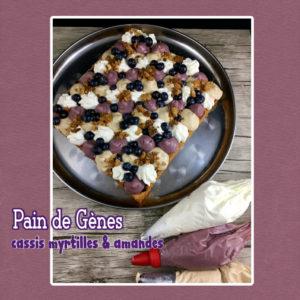 Gâteau Pain de Genes myrtilles