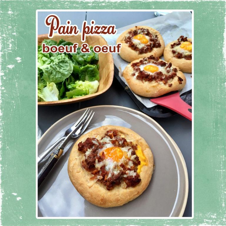 Pain pizza au boeuf et à l'oeuf