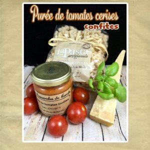 purée de tomates cerises