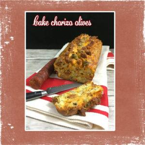 Cake chorizo olives