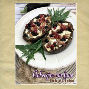 aubergine tahini feta au four