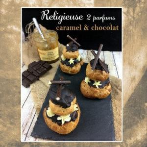 religieuse chocolat caramel