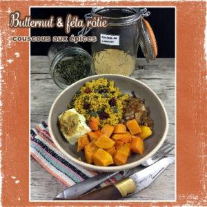 Assiette complète butternut et couscous