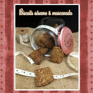 biscuit muscovado sesame
