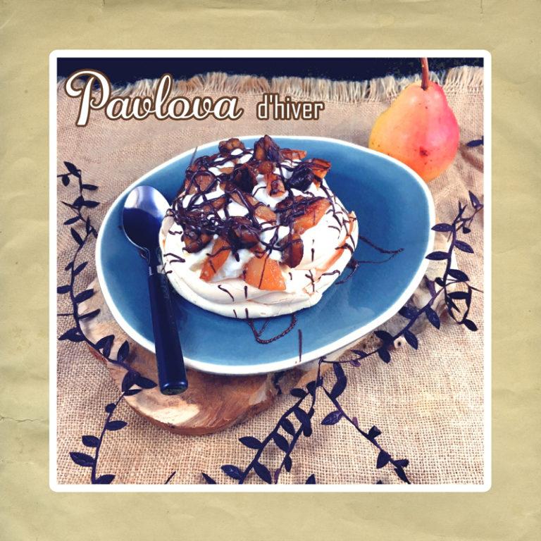 pavlova poire chataigne chocolat