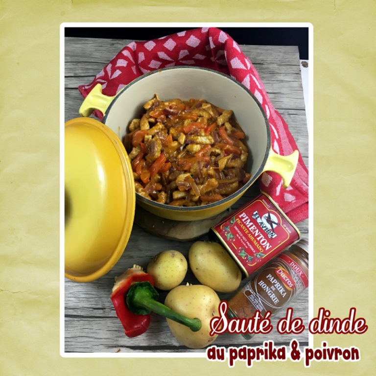 saute de dinde au paprika et poivrons