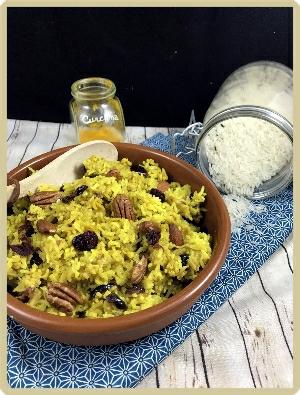 riz au four curcuma coco fruits secs