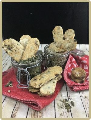 crackers figues et graines sans gluten