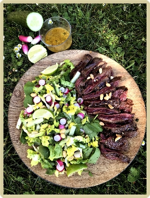 salade d'inspration thai boeuf mariné