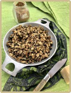 granola salé poele