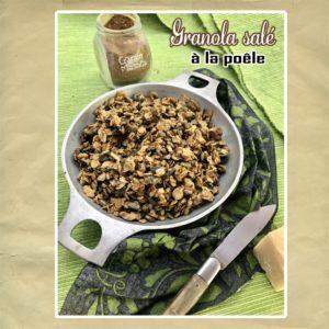 granola salé cuisson a la poêle