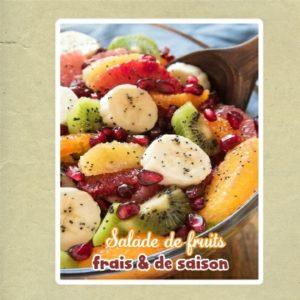 salades de fruits frais