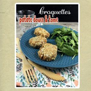 Croquettes de patate douce et tome d'Aubrac
