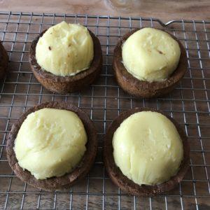cremeux citron menthe sur palet breton