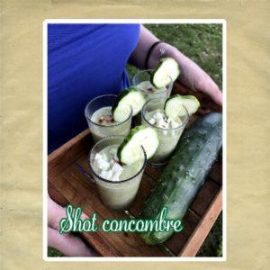 shot concombre sans lactose
