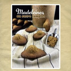 madeleines au sucre complet