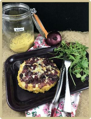 tartelette polenta oignons et fromage